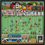 click here to view larger image of Football Village - 18ct (hand painted canvases)