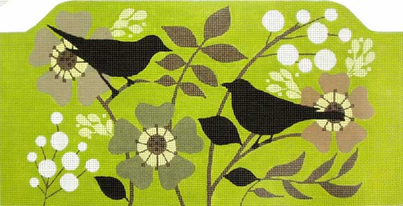 click here to view larger image of Blackbird Garden Purse (hand painted canvases)