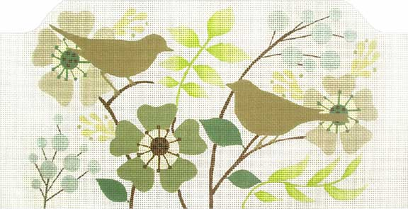 click here to view larger image of Brown Bird Garden Purse (hand painted canvases)