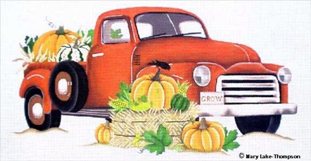 click here to view larger image of Autumn Truck (hand painted canvases)