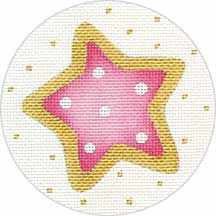 Pink Star Cookie Ornament hand painted canvases