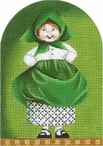 click here to view larger image of Saint Paddy Kid - Scarf (hand painted canvases)