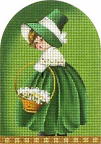 click here to view larger image of Saint Paddy Kid - Basket (hand painted canvases)