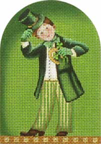 click here to view larger image of Saint Paddy Kid - Horseshoe (hand painted canvases)
