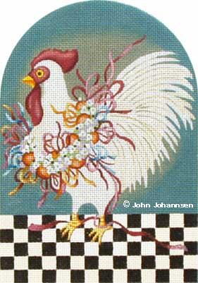 click here to view larger image of Ribbon Chicken (hand painted canvases)