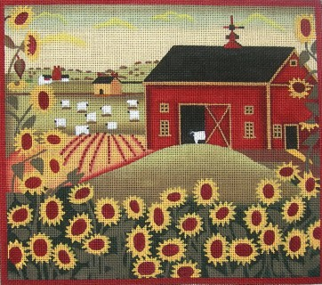 click here to view larger image of Sunflower Farm (hand painted canvases)