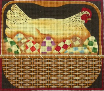 click here to view larger image of Hen & Eggs (hand painted canvases)