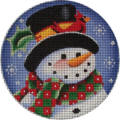 click here to view larger image of Cardinal Snowman (hand painted canvases)