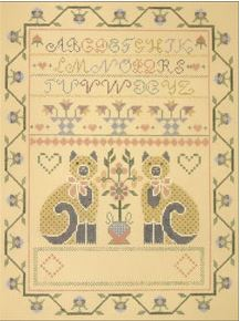 click here to view larger image of Two Cats Sampler (hand painted canvases)