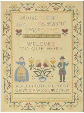 click here to view larger image of Welcome To Our House Sampler (hand painted canvases)