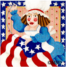 click here to view larger image of Betsy Ross - Wild Women (hand painted canvases)