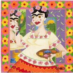 click here to view larger image of Frida - Wild Women (hand painted canvases)