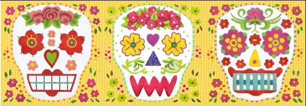 click here to view larger image of Sugar Skulls (hand painted canvases)