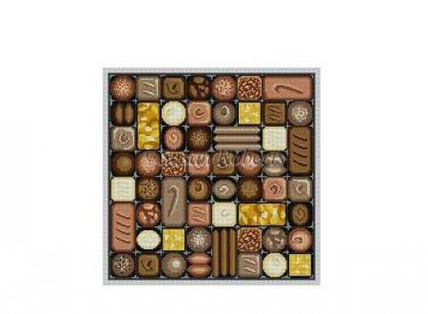 click here to view larger image of Box of Chocolates (hand painted canvases)
