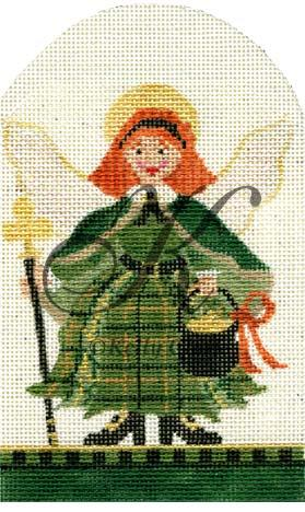 click here to view larger image of March Angel of St. Paddys (hand painted canvases)