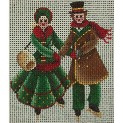 click here to view larger image of Ice Skaters (hand painted canvases)