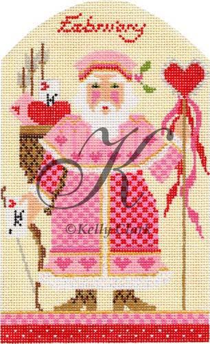 click here to view larger image of February Valentine Santa Stitch Guide (books)