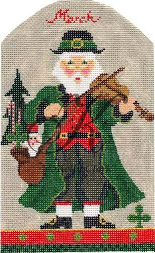 click here to view larger image of March St. Paddy's Santa Stitch Guide (books)