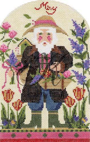 click here to view larger image of May Flowers Santa Stitch Guide (books)