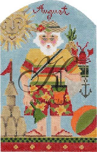 click here to view larger image of August at the Beach Santa Stitch Guide (books)