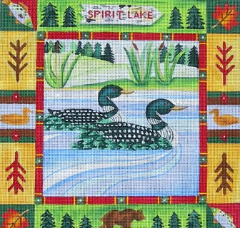 click here to view larger image of Spirit Lake (hand painted canvases)