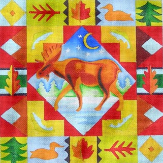 click here to view larger image of Lodge Moose (hand painted canvases)