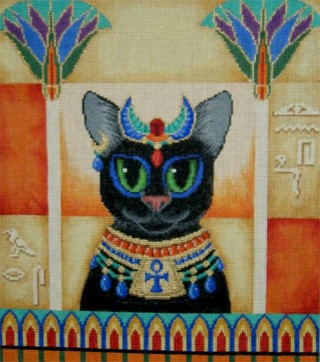 click here to view larger image of Cleo's Cat (hand painted canvases)