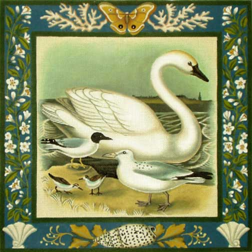 click here to view larger image of Swan (hand painted canvases)