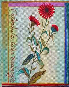 click here to view larger image of Besler Calendula (hand painted canvases)