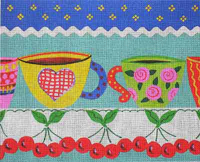 click here to view larger image of Funky Cups (hand painted canvases)