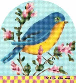 click here to view larger image of Blue Bird (hand painted canvases)