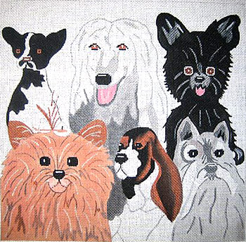 click here to view larger image of Dog Collage (hand painted canvases)