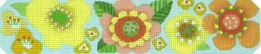click here to view larger image of Citrus Garden Bracelet (hand painted canvases)