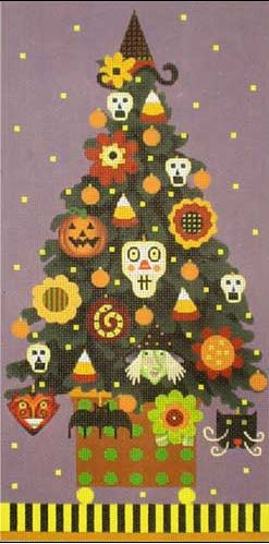 click here to view larger image of Halloween Topiary (hand painted canvases)