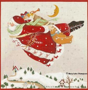 click here to view larger image of Flying Santa (hand painted canvases)