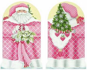click here to view larger image of Pink Santa Standup (hand painted canvases)