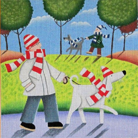 click here to view larger image of Walk in the Park (hand painted canvases)