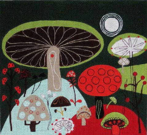 click here to view larger image of Fungi (hand painted canvases)
