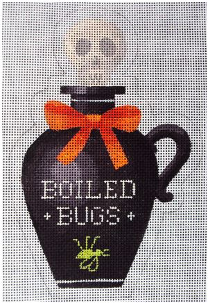 click here to view larger image of Boiled Bugs Poison Bottle (hand painted canvases)