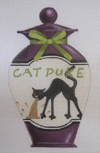 click here to view larger image of Cat Puke Halloween Bottle (hand painted canvases)