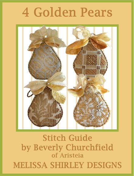 click here to view larger image of 4 Golden Pears Stitch Guide (books)