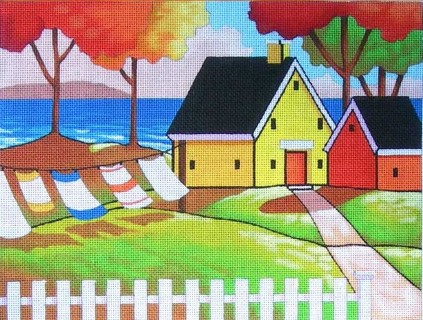 click here to view larger image of Seaside Cottage Retreat (hand painted canvases)