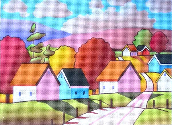 click here to view larger image of Sunny Roadway (hand painted canvases)
