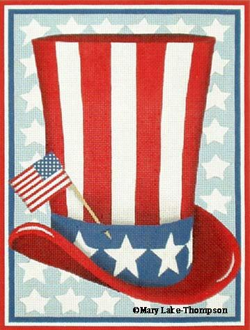 click here to view larger image of Uncle Sam's Hat (hand painted canvases)