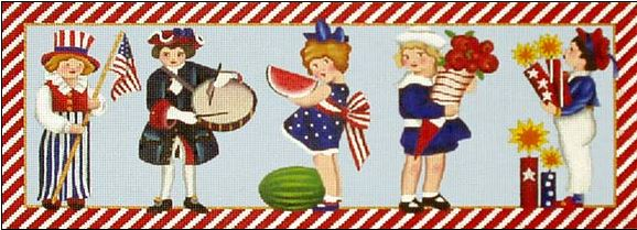 click here to view larger image of Fourth of July Kids (hand painted canvases)