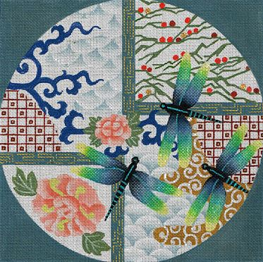 click here to view larger image of Devine Dragonflies (hand painted canvases)