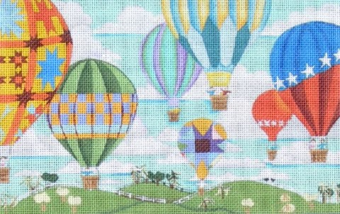 click here to view larger image of Balloon Races (hand painted canvases)