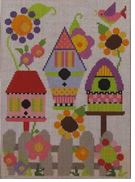 click here to view larger image of Barbara's Birdhouse Garden (hand painted canvases)