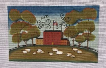 click here to view larger image of Sheep Farm (hand painted canvases)