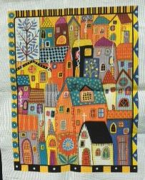 click here to view larger image of City Homes (hand painted canvases)